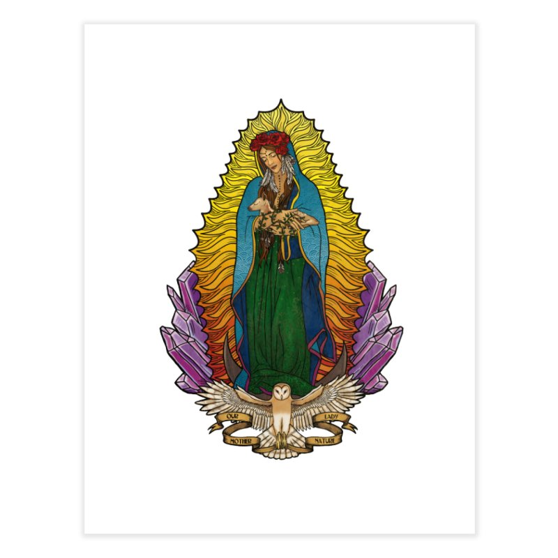 Our Lady Mother Nature Home Fine Art Print by Haciendo Designs's Artist Shop