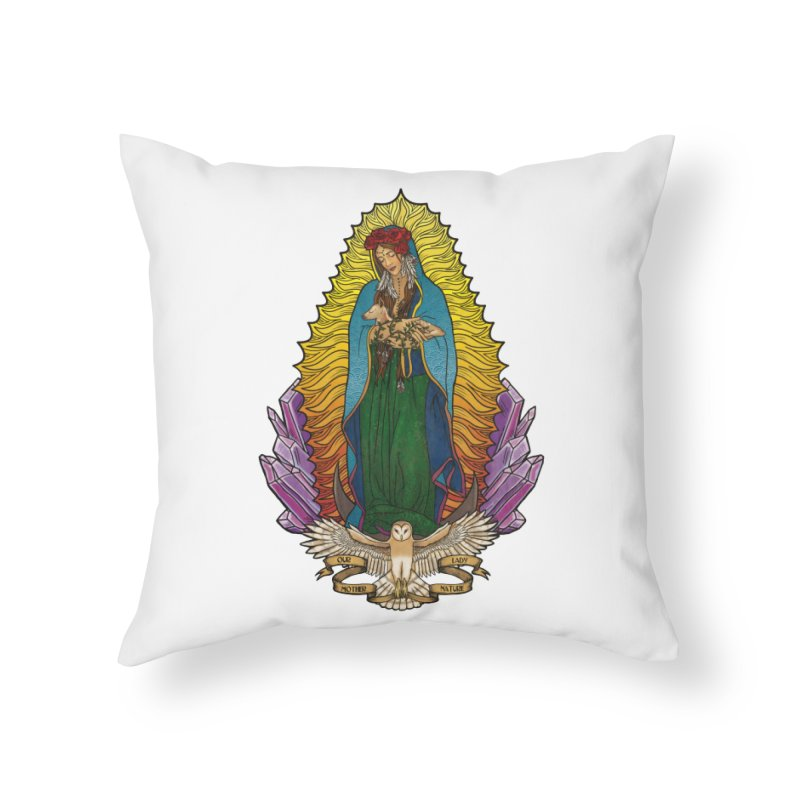 Our Lady Mother Nature Home Throw Pillow by Haciendo Designs's Artist Shop