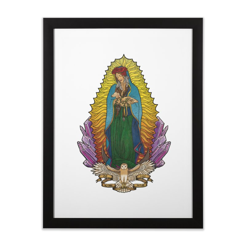 Our Lady Mother Nature Home Framed Fine Art Print by Haciendo Designs's Artist Shop