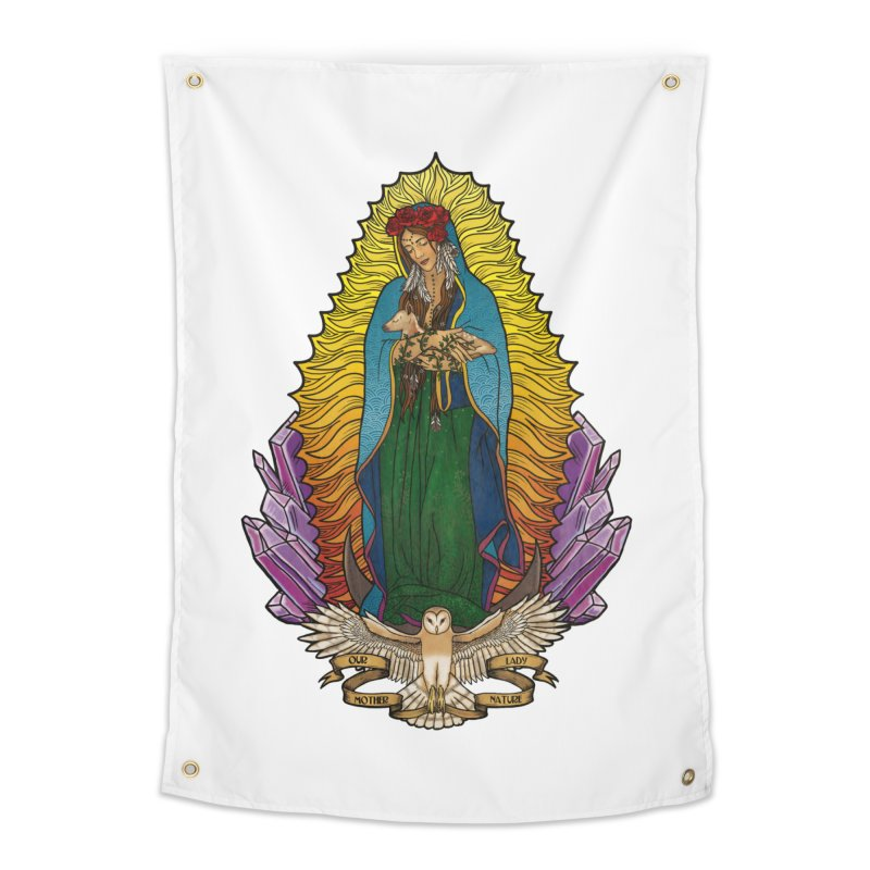 Our Lady Mother Nature Home Tapestry by Haciendo Designs's Artist Shop