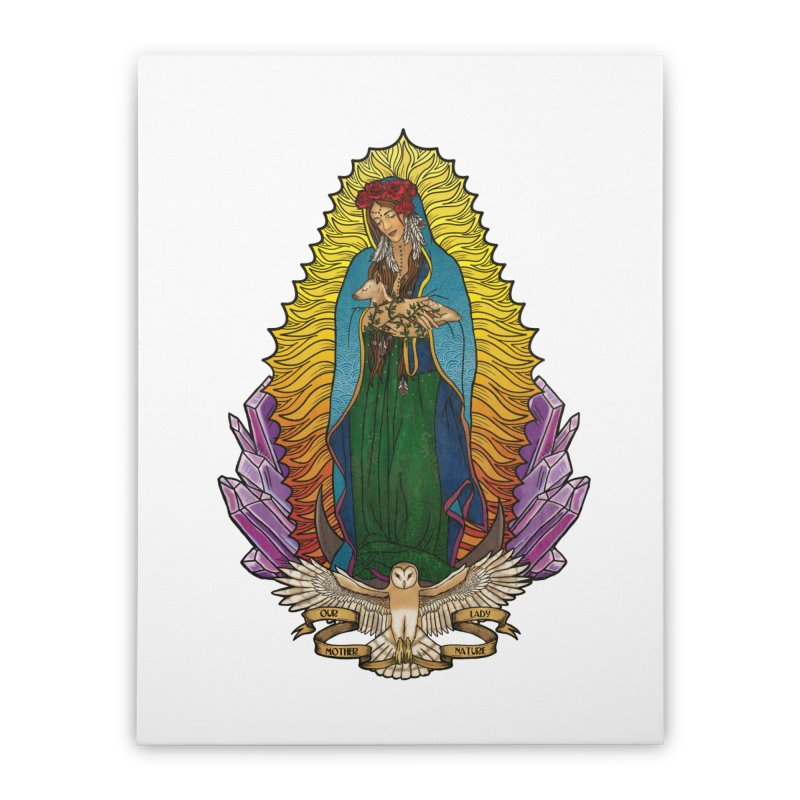 Our Lady Mother Nature Home Stretched Canvas by Haciendo Designs's Artist Shop