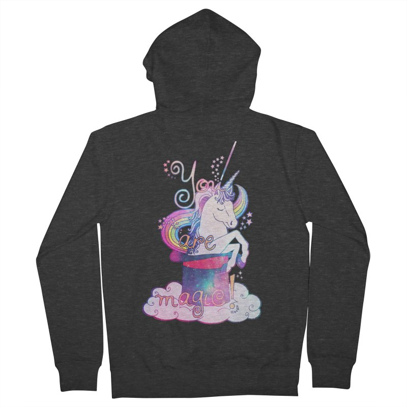 You Are Magic! Men's French Terry Zip-Up Hoody by Haciendo Designs's Artist Shop