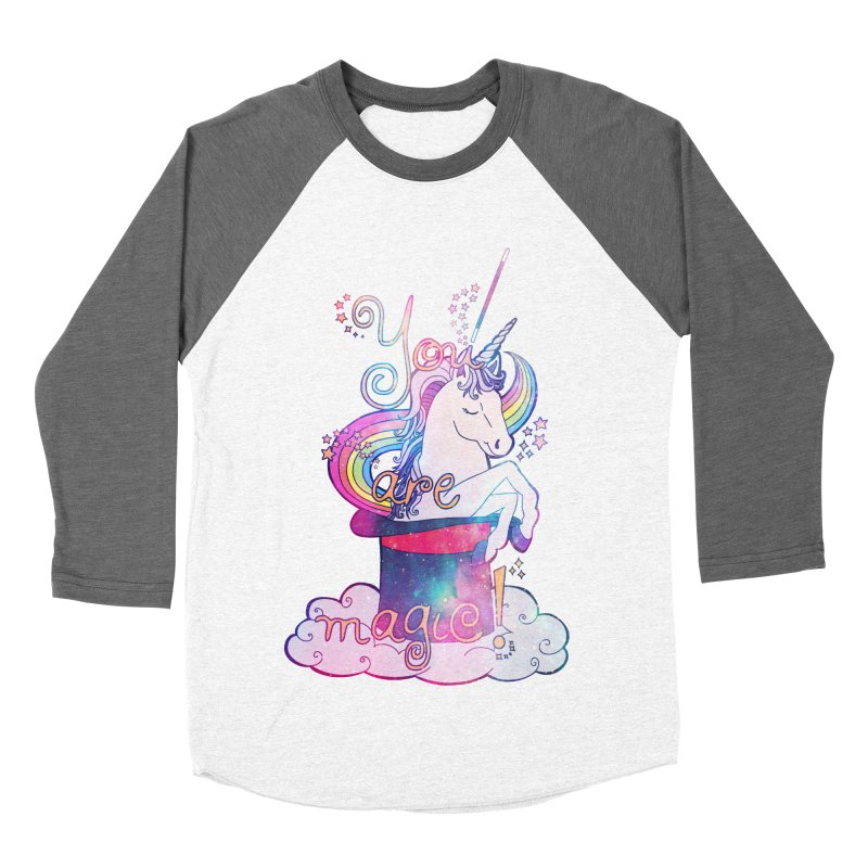 You Are Magic! Women's Baseball Triblend Longsleeve T-Shirt by Haciendo Designs's Artist Shop