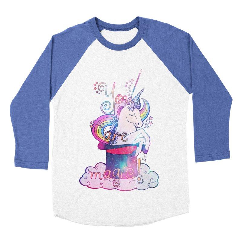 You Are Magic! Men's Baseball Triblend T-Shirt by Haciendo Designs's Artist Shop