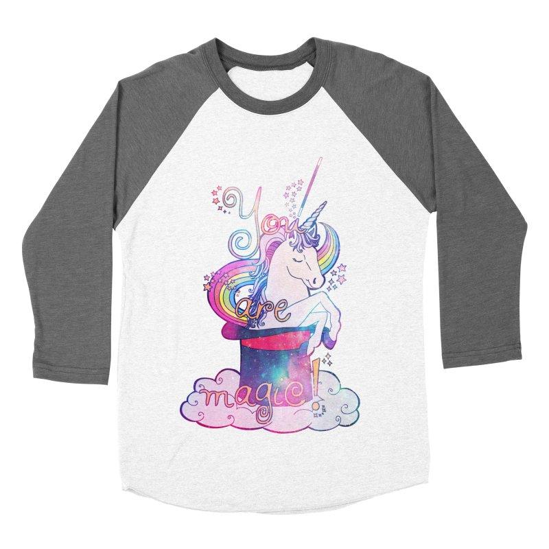 You Are Magic! Men's Baseball Triblend Longsleeve T-Shirt by Haciendo Designs's Artist Shop