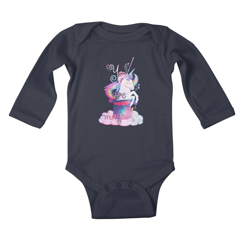 You Are Magic! Kids Baby Longsleeve Bodysuit by Haciendo Designs's Artist Shop
