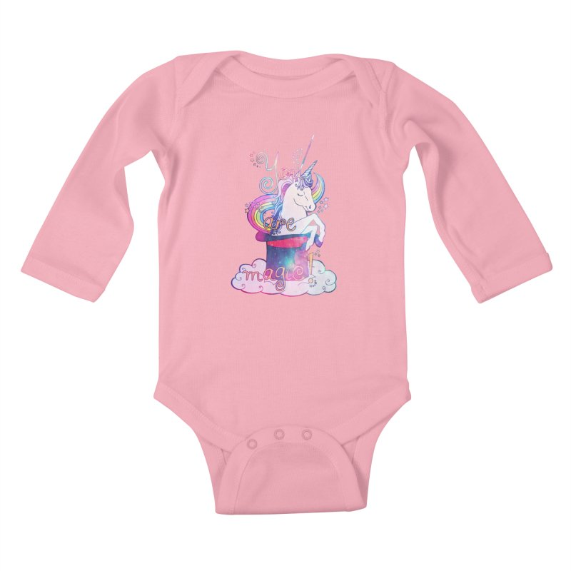 You Are Magic! Kids Baby Longsleeve Bodysuit by Haciendo Designs's Artist Shop