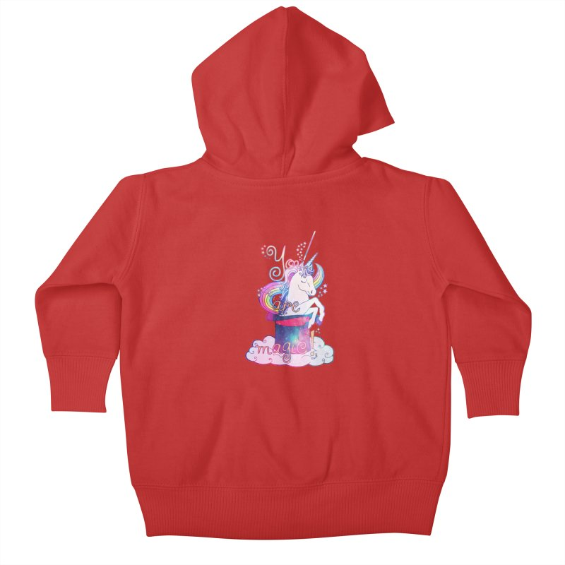 You Are Magic! Kids Baby Zip-Up Hoody by Haciendo Designs's Artist Shop