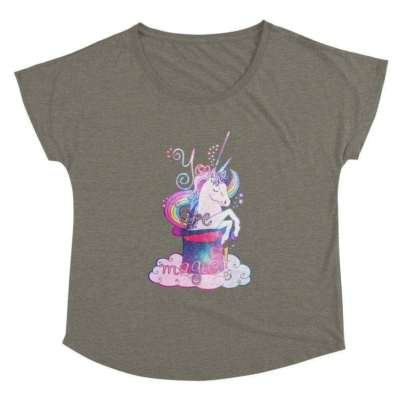 You Are Magic! Women's Dolman Scoop Neck by Haciendo Designs's Artist Shop