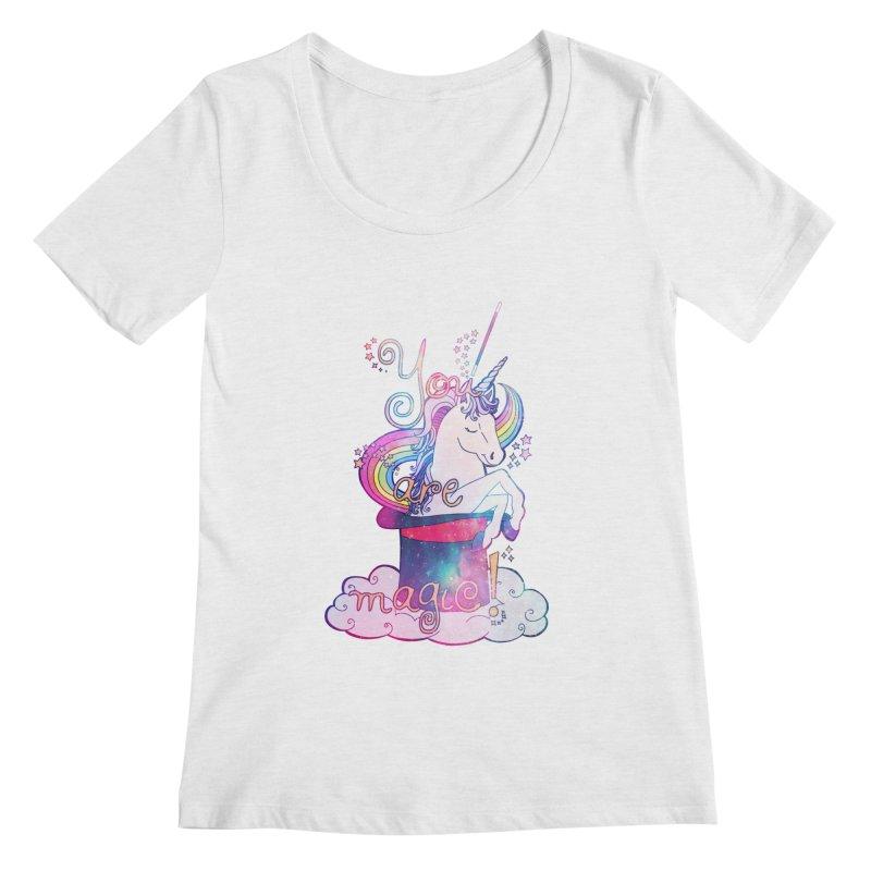 You Are Magic! Women's Scoopneck by Haciendo Designs's Artist Shop