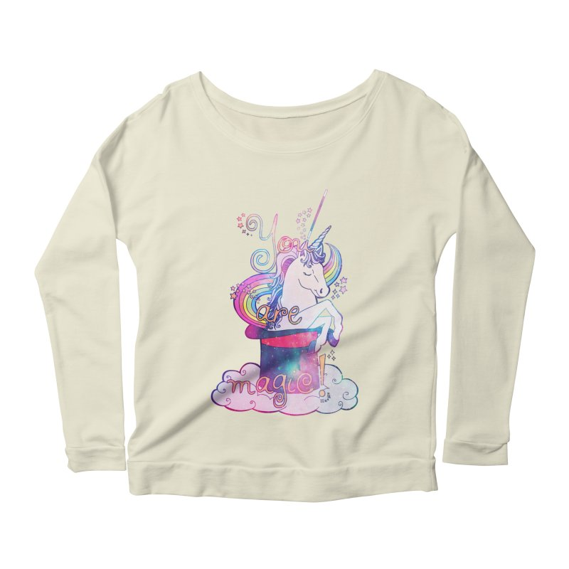 You Are Magic! Women's Scoop Neck Longsleeve T-Shirt by Haciendo Designs's Artist Shop