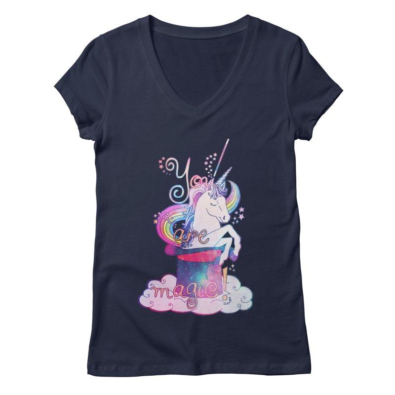 You Are Magic! Women's Regular V-Neck by Haciendo Designs's Artist Shop