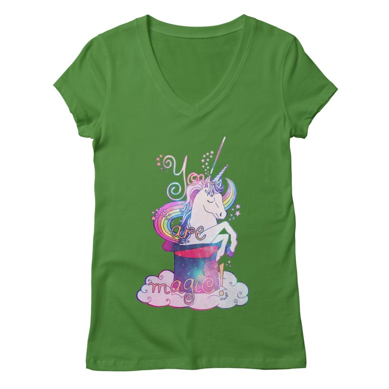 You Are Magic! Women's Regular V-Neck by Haciendo Designs's Artist Shop