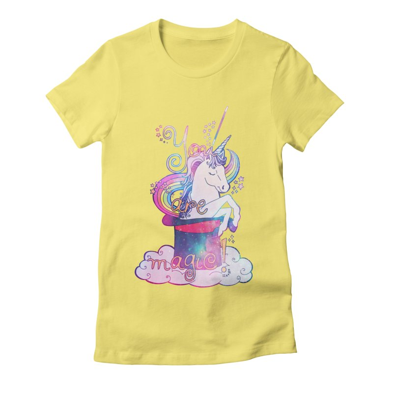 You Are Magic! Women's Fitted T-Shirt by Haciendo Designs's Artist Shop