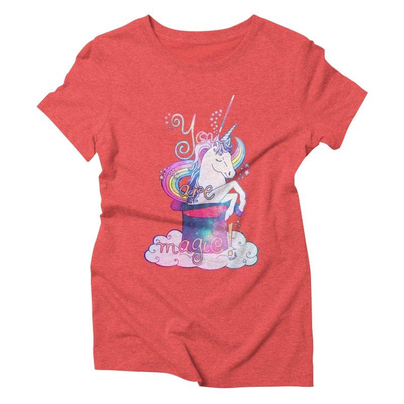 You Are Magic! Women's Triblend T-Shirt by Haciendo Designs's Artist Shop