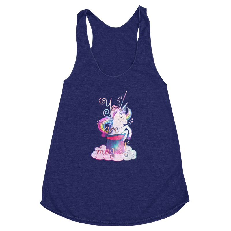 You Are Magic! Women's Racerback Triblend Tank by Haciendo Designs's Artist Shop