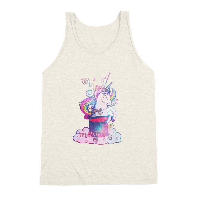 You Are Magic! Men's Triblend Tank by Haciendo Designs's Artist Shop