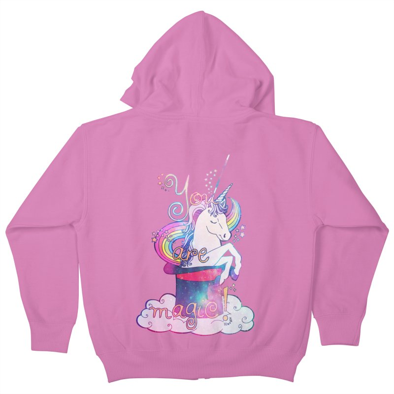 You Are Magic! Kids Zip-Up Hoody by Haciendo Designs's Artist Shop