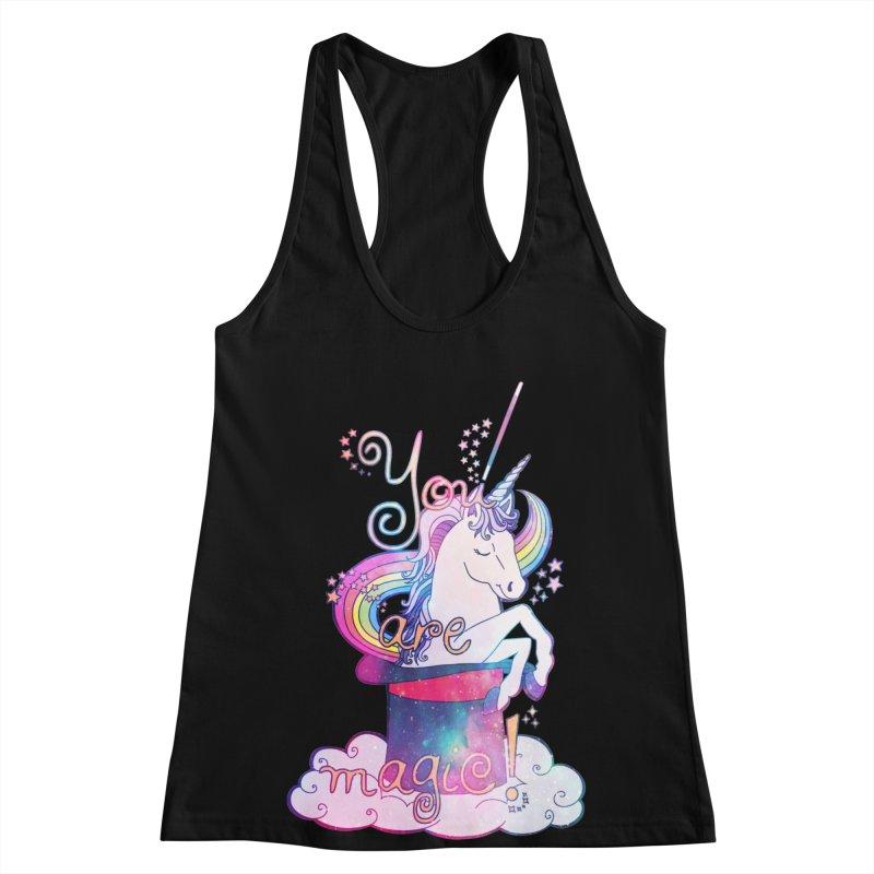 You Are Magic! Women's Racerback Tank by Haciendo Designs's Artist Shop
