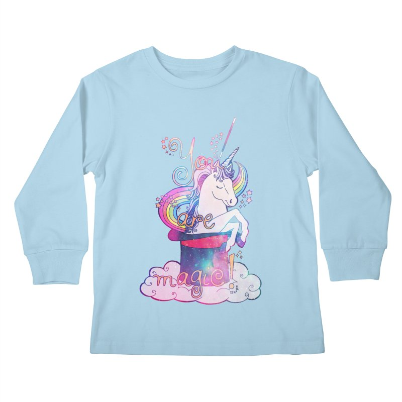You Are Magic! Kids Longsleeve T-Shirt by Haciendo Designs's Artist Shop