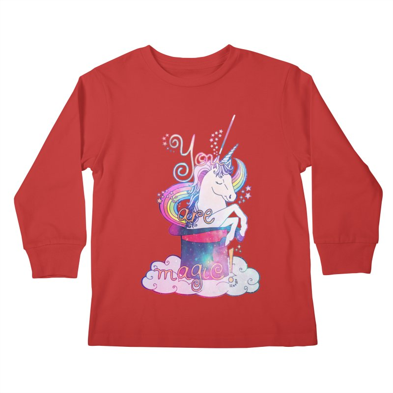 You Are Magic! Kids Longsleeve T-Shirt by Haciendo Designs's Artist Shop