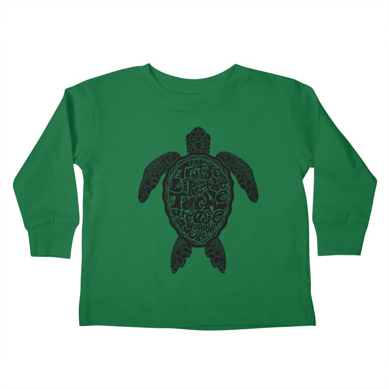 Try To Be Like The Turtle Kids Toddler Longsleeve T-Shirt by Haciendo Designs's Artist Shop