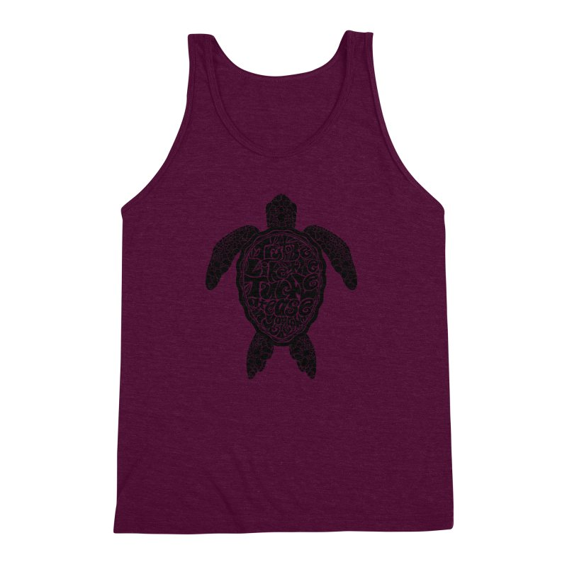 Try To Be Like The Turtle Men's Triblend Tank by Haciendo Designs's Artist Shop