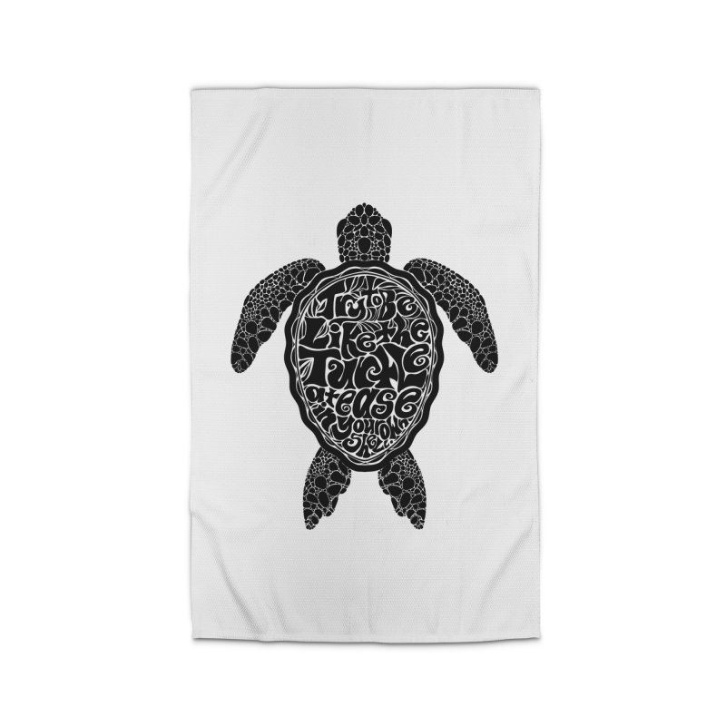 Try To Be Like The Turtle Home Rug by Haciendo Designs's Artist Shop