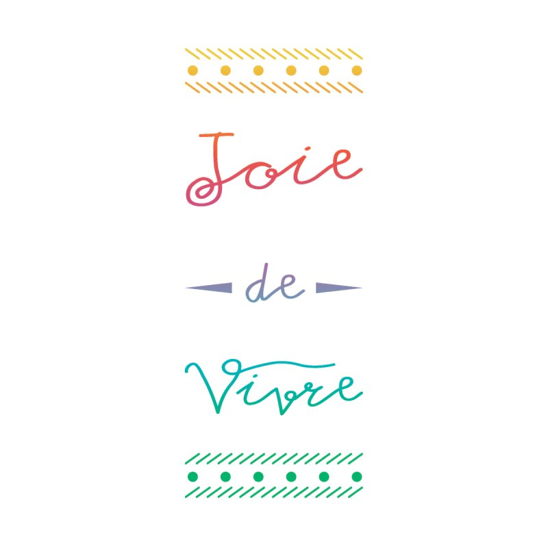 Joie de Vivre Men's V-Neck by Haciendo Designs's Artist Shop