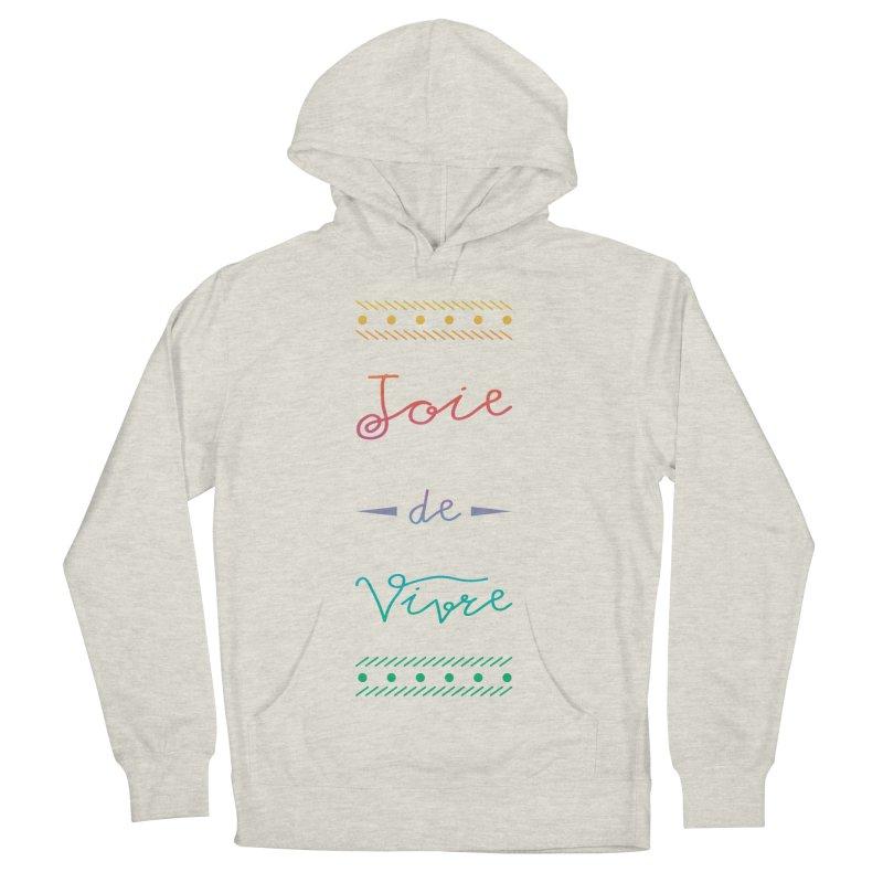 Joie de Vivre Men's French Terry Pullover Hoody by Haciendo Designs's Artist Shop