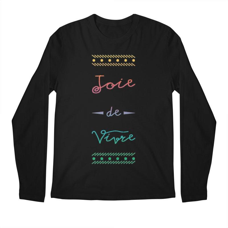 Joie de Vivre Men's Regular Longsleeve T-Shirt by Haciendo Designs's Artist Shop