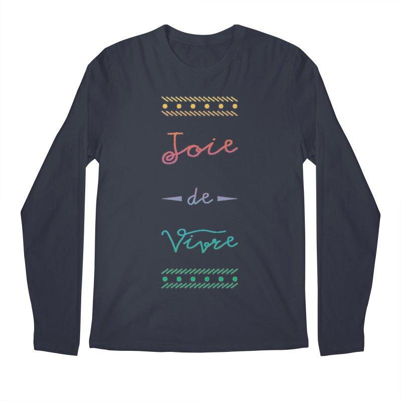 Joie de Vivre Men's Longsleeve T-Shirt by Haciendo Designs's Artist Shop