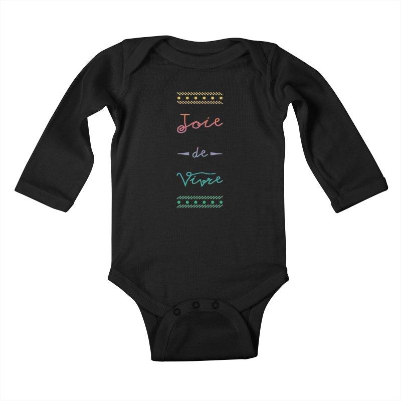 Joie de Vivre Kids Baby Longsleeve Bodysuit by Haciendo Designs's Artist Shop