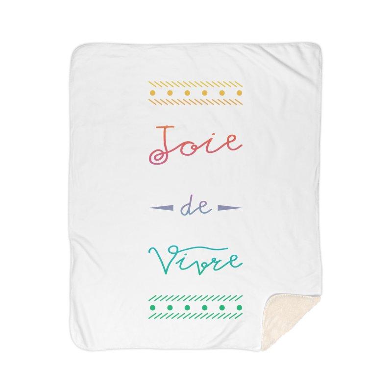Joie de Vivre Home Sherpa Blanket Blanket by Haciendo Designs's Artist Shop