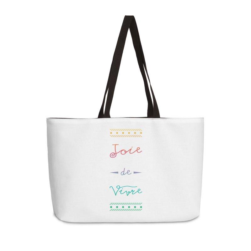 Joie de Vivre Accessories Weekender Bag Bag by Haciendo Designs's Artist Shop