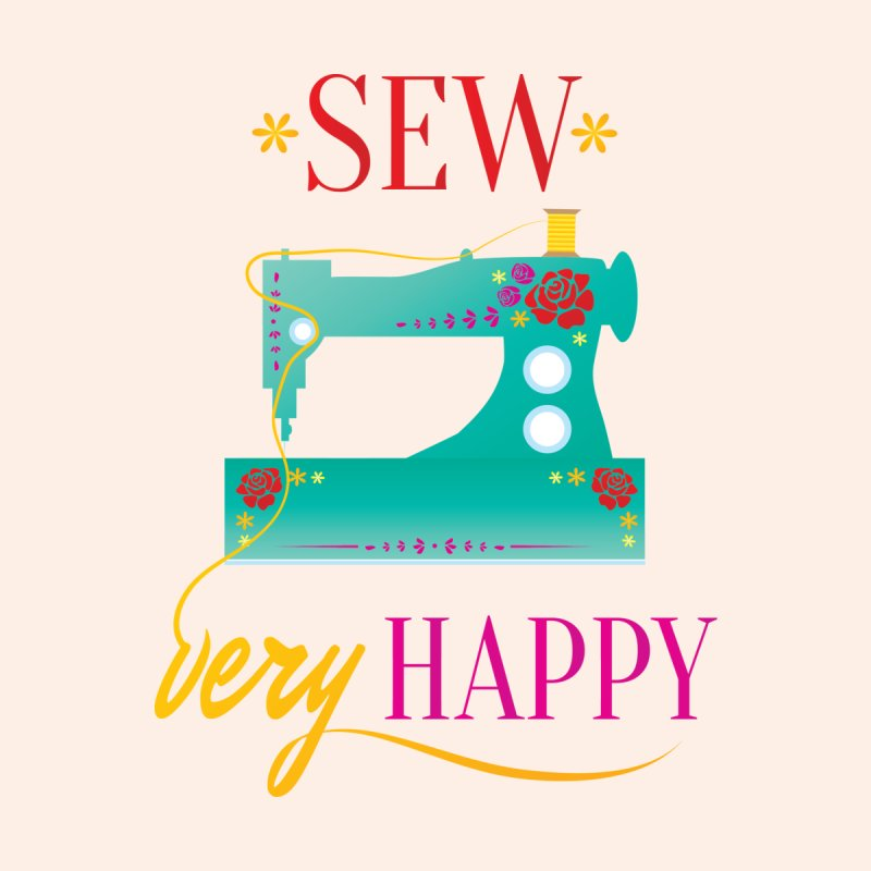 Sew Very Happy Men's V-Neck by Haciendo Designs's Artist Shop