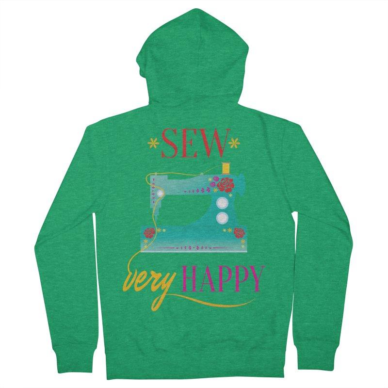 Sew Very Happy Women's Zip-Up Hoody by Haciendo Designs's Artist Shop