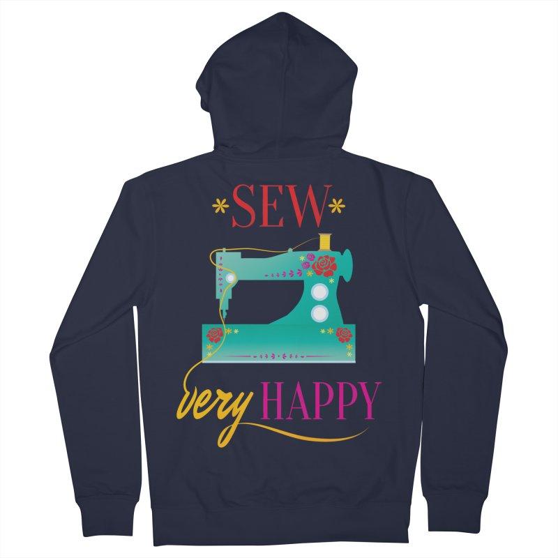 Sew Very Happy Men's Zip-Up Hoody by Haciendo Designs's Artist Shop