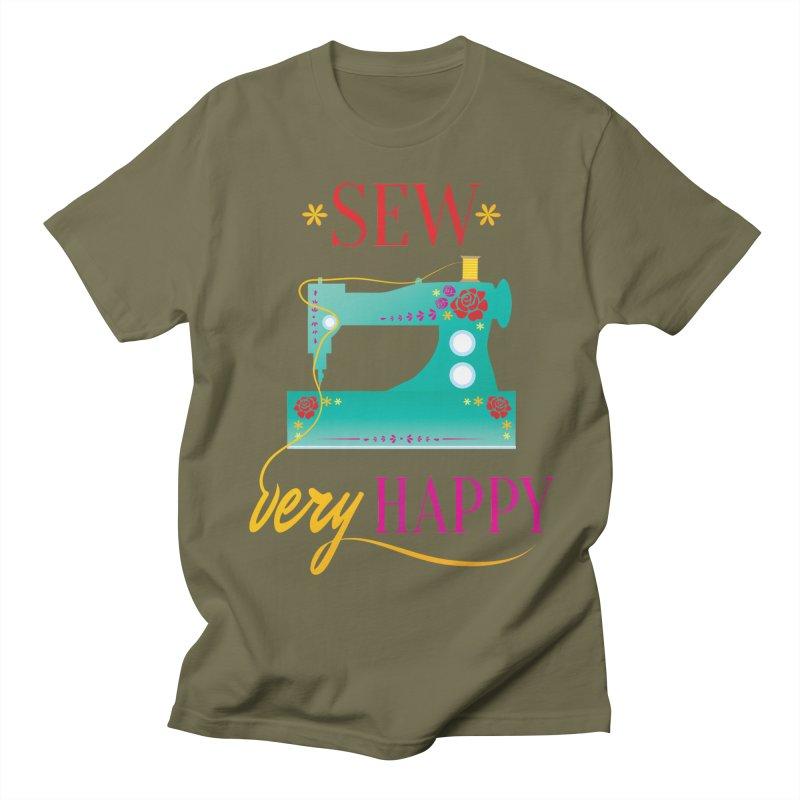 Sew Very Happy Women's Unisex T-Shirt by Haciendo Designs's Artist Shop