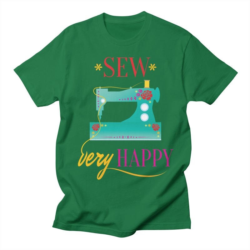 Sew Very Happy Women's Unisex T-Shirt by Haciendo Designs's Artist Shop