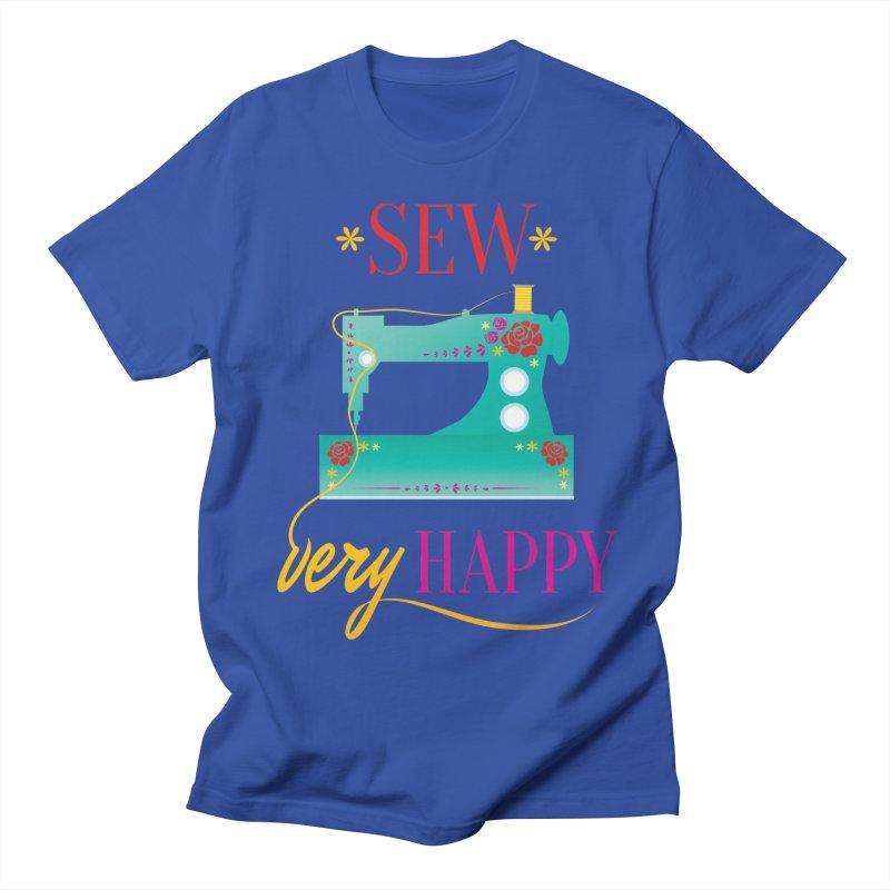 Sew Very Happy Women's Regular Unisex T-Shirt by Haciendo Designs's Artist Shop