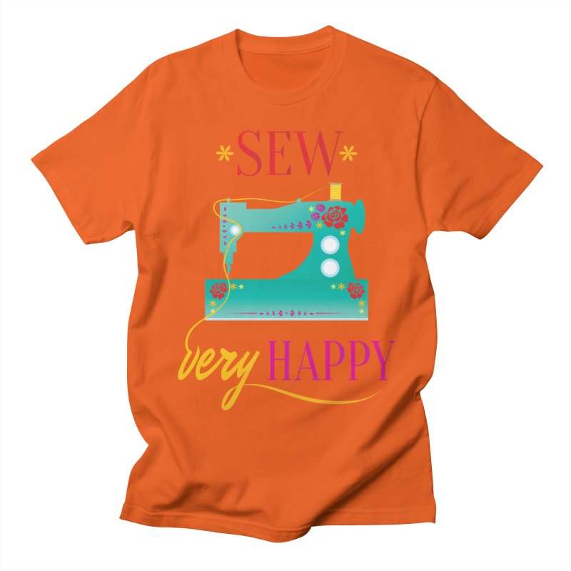 Sew Very Happy Men's Regular T-Shirt by Haciendo Designs's Artist Shop
