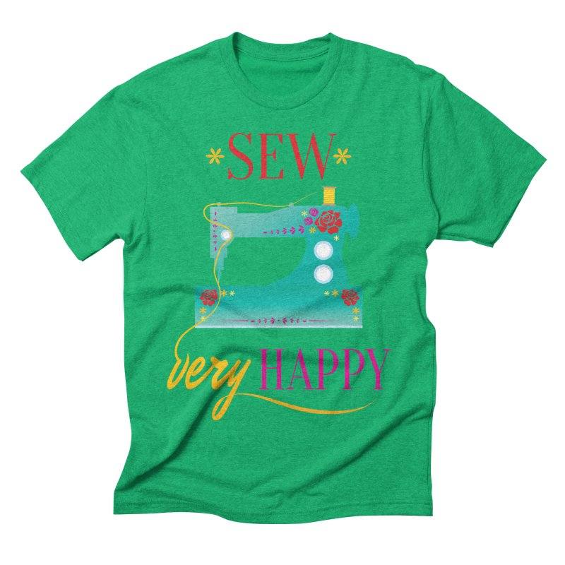 Sew Very Happy Men's Triblend T-Shirt by Haciendo Designs's Artist Shop
