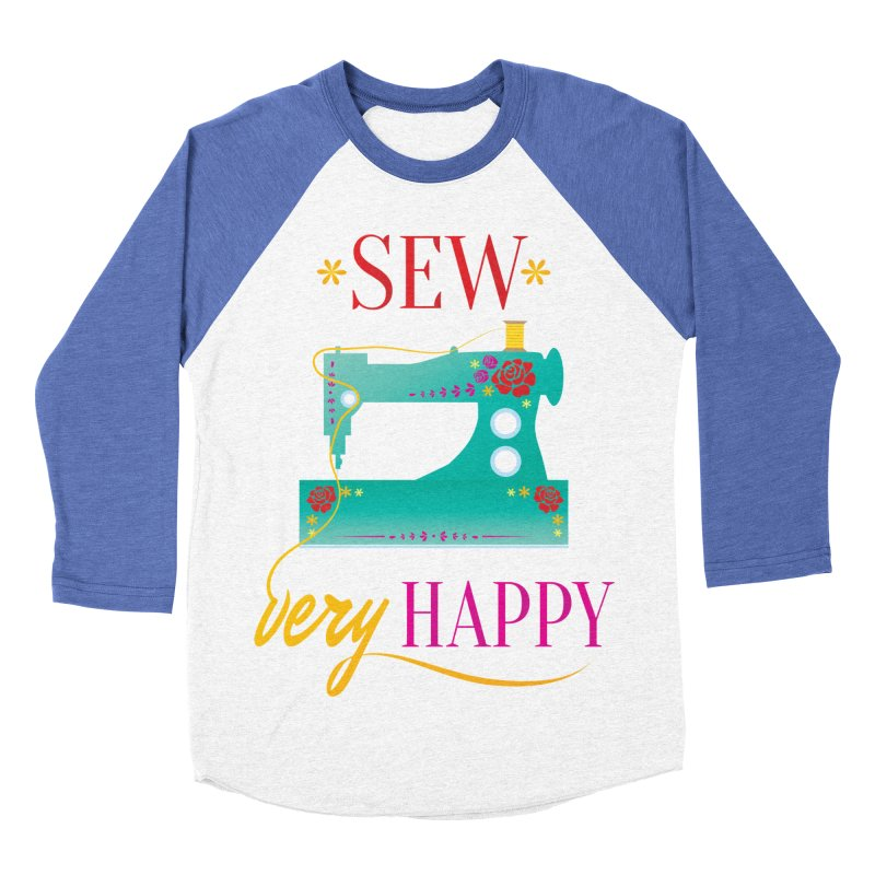 Sew Very Happy Women's Baseball Triblend T-Shirt by Haciendo Designs's Artist Shop
