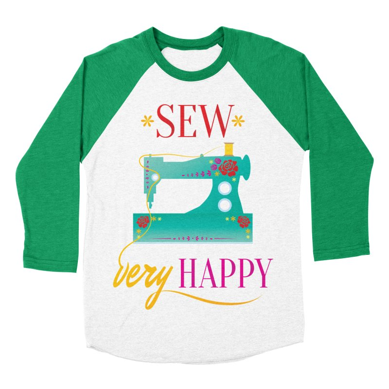 Sew Very Happy Women's Baseball Triblend Longsleeve T-Shirt by Haciendo Designs's Artist Shop