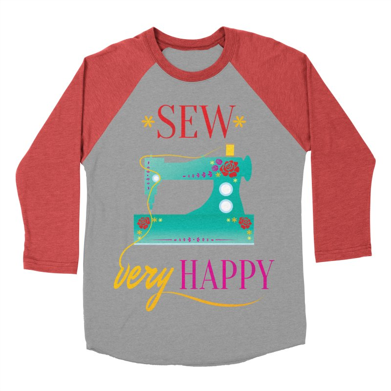 Sew Very Happy Men's Baseball Triblend Longsleeve T-Shirt by Haciendo Designs's Artist Shop
