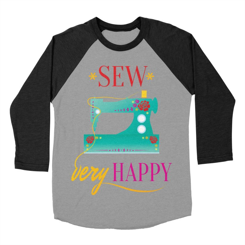 Sew Very Happy Men's Baseball Triblend Longsleeve T-Shirt by Haciendo Designs's Artist Shop