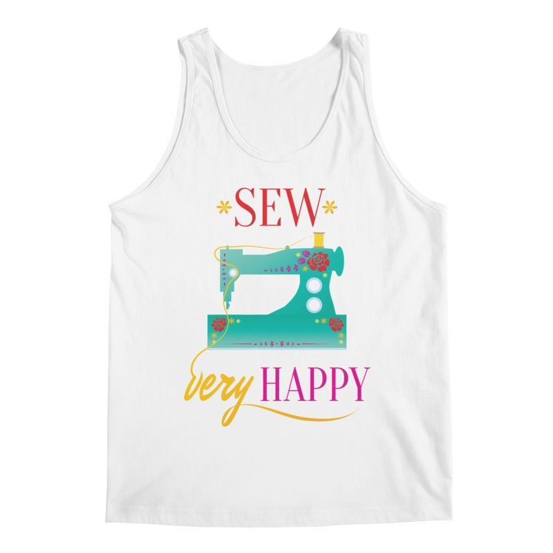 Sew Very Happy Men's Regular Tank by Haciendo Designs's Artist Shop