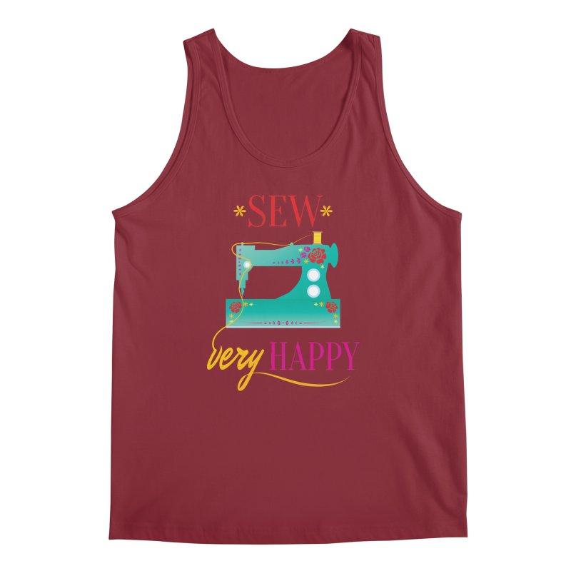 Sew Very Happy Men's Tank by Haciendo Designs's Artist Shop