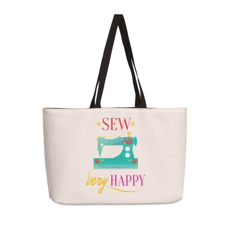 Sew Very Happy Accessories Weekender Bag Bag by Haciendo Designs's Artist Shop